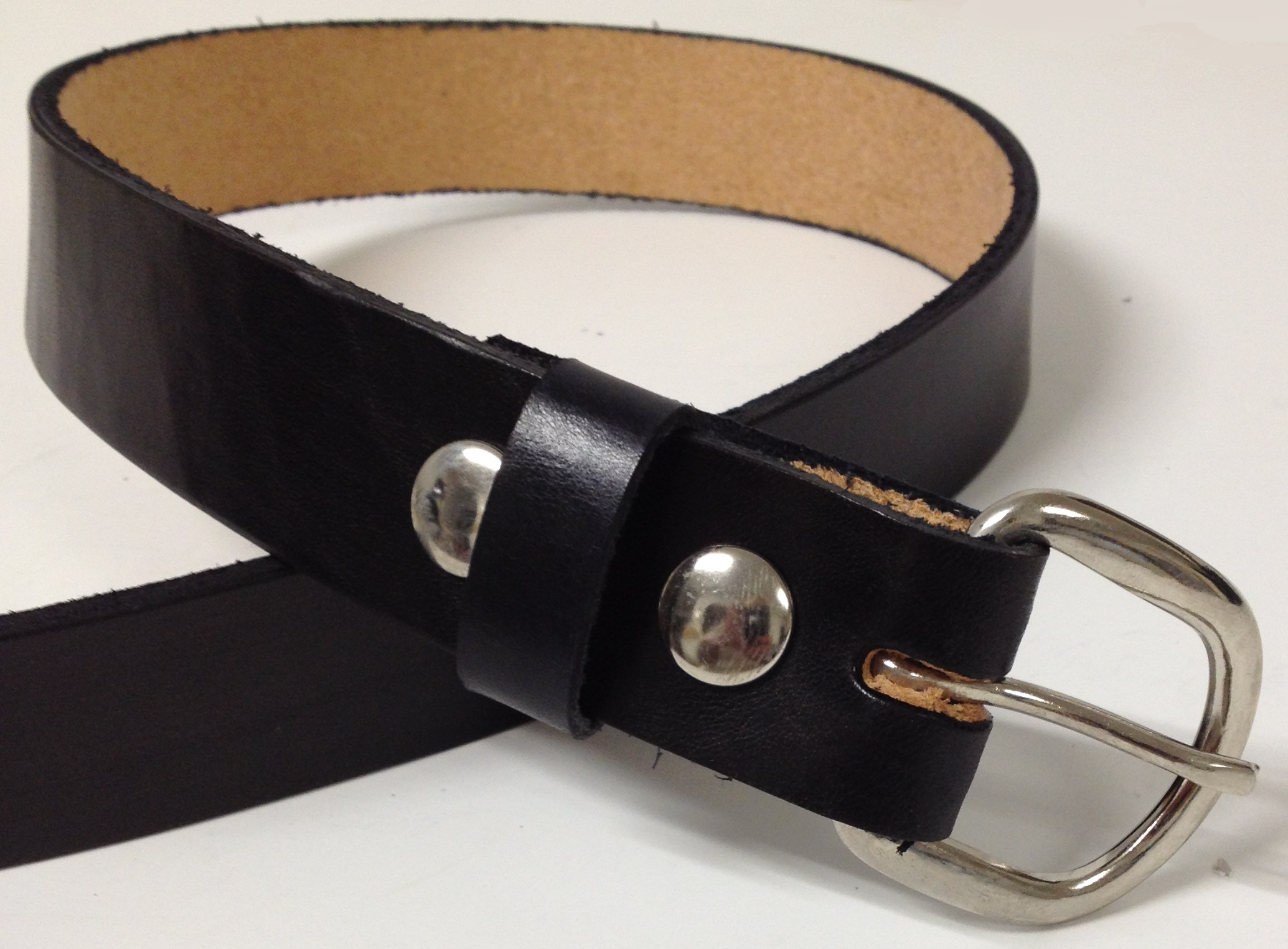 handmade mens leather belt 1 25 quot wide brown or black